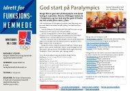 Nyhetsbrev nr. 1-2008 - Norges idrettsforbund