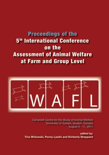 WAFL 2011 - Book of Abstracts - University of Guelph