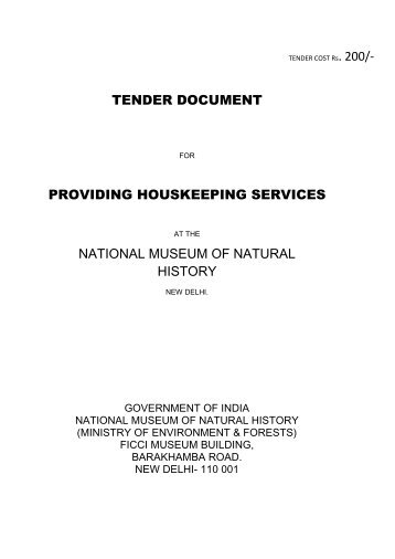 Tender for Providing Houskeeping Services - National Museum of ...
