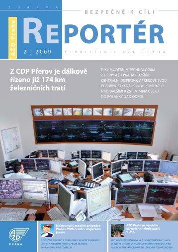 Reportér 2009/2 - AŽD Praha, sro