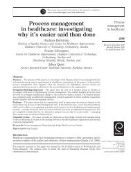 Process management in healthcare - ingentaconnect.co..