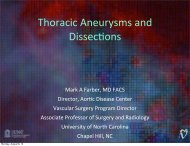 Thoracic Aneurysms and Dissec4ons - VascularWeb
