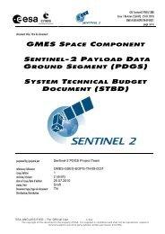 GSC Sentinel-2 PDGS STBD - emits - ESA