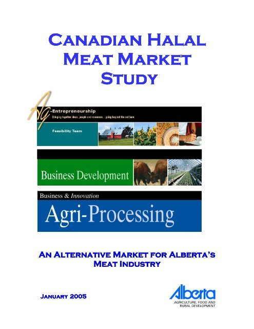 Canadian Halal Meat Market Study - Agriculture and Rural