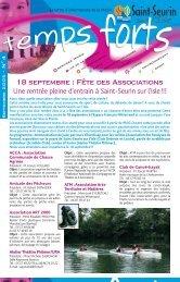 18 septembre : Fête des Associations - Saint-Seurin-sur-l'Isle