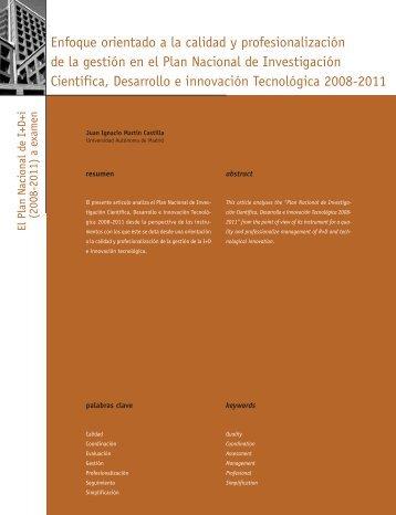 Enfoque orientado a la calidad y profesionalización de la ... - Madri+d