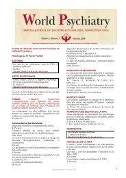Culture, facteurs culturels et diagnostic psychiatrique - World ...