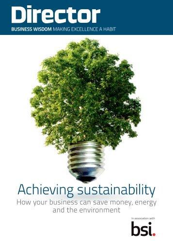 Achieving sustainability