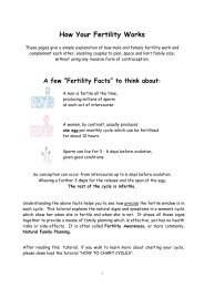 How Your Fertility Works - Natural Family Planning Teachers ...
