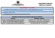 CONCURSO PÚBLICO EDITAL Nº 06/2012 - Instituto Mais