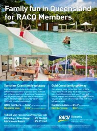 Family fun in Queensland for RACQ Members.