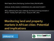 Monitoring land and property markets in African ... - Urban LandMark