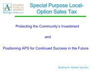 Special Purpose Local- Option Sales Tax - Atlanta Public Schools