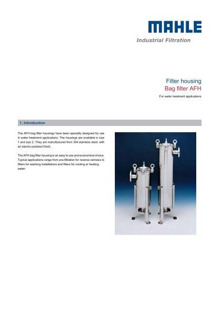 Filter housing Bag filter AFH - MAHLE Industry - Filtration