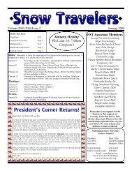 January 2004 - Fairbanks Snow Travelers