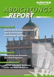 Abdichtungsreport 1/2010 - Köster Bauchemie AG