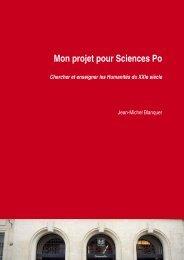 Mon projet pour Sciences Po - L'Etudiant