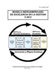 Modelo Iberoamericano de Excelencia en la Gestión V ... - Fundibeq