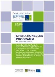 operationelles programm - Netzwerk Nachhaltige Stadtentwicklung ...