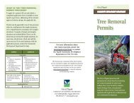 Tree Removal Permits brochure - City of Tigard