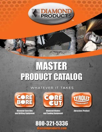 DIAMOND PRODUCTS MASTER PRODUCT CATALOG