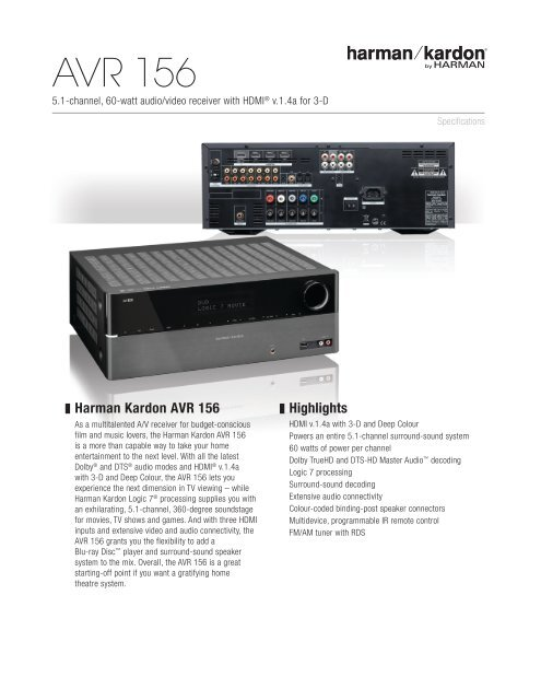 AVR 156 (English EU) - Harman Kardon