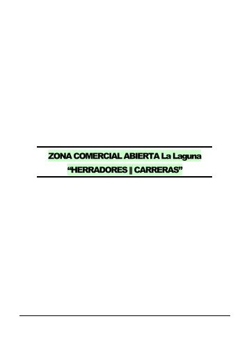 ZONA COMERCIAL ABIERTA La Laguna - Servicio de Estudios ...