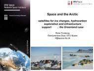 Satellites for Ice Changes, Hydrocarbon Exploration and ...