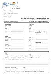 Fax +49 (0 50 36) 9 22 62 • nennung@2000km.com