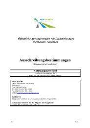 Ausschreibungsbestimmungen - Eurodistrict SaarMoselle