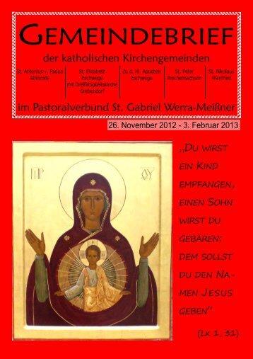 Pfarrbrief - St.Elisabeth