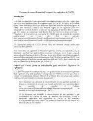 Processus de renouvellement de l'agrément des registraires ... - CIRA
