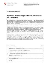 Leitfaden für F&E-Konsortien der KTI