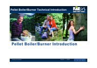 Pellet Boiler/Burner Technical Introduction - Maine Energy Systems