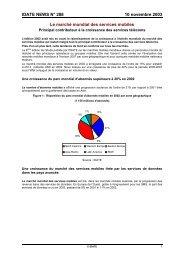IDATE NEWS N° 288 10 novembre 2003 Le marché mondial des ...