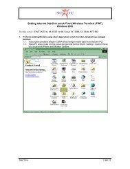 Setting Internet StarOne untuk Fixed Wireless Terminal (FWT) - Indosat
