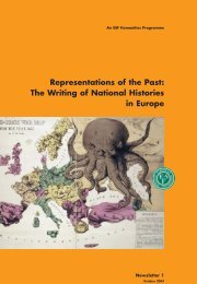 Representations of the Past: The Writing of National Histories in ...