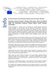 Eiropas Parlaments sāk informācijas kampaņu pirms 2014. gada ...