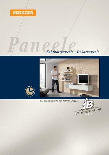 Echtholzpaneele · Dekorpaneele - Behrens-Wöhlk-Gruppe