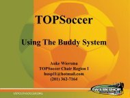 TOPSoccer: using the buddy system - US Youth Soccer