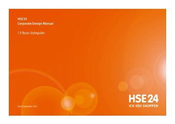HSE24 Corporate Design Manual - HSE24 Der Shoppingsender