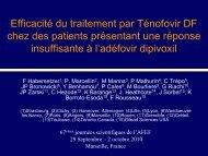 Efficacité du traitement par Ténofovir Disoproxil fumarate chez ... - Afef