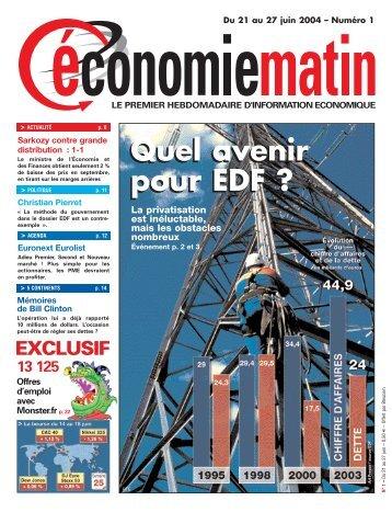 Quel avenir pour EDF - Watine Taffin