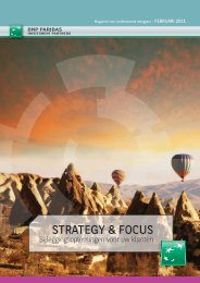 StRAtEgy & FocUS - BNP Paribas Investment Partners