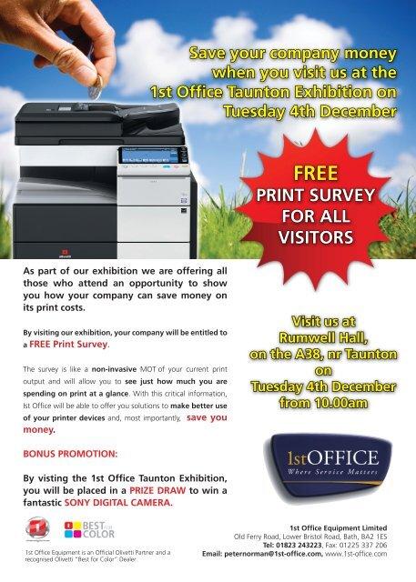 1st Office Taunton Exhibition Invitation Mailer - Somerset Chamber ...