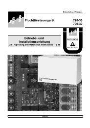 Betriebs- und Installationsanleitung Fluchttürsteuergerät 720 ... - Ikon