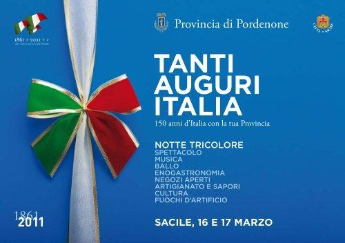 TANTI AUGURI ITALIA - Provincia di Pordenone