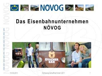 Das Eisenbahnunternehmen - NÖVOG