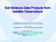Soil Moisture Data Products from Satellite Observations