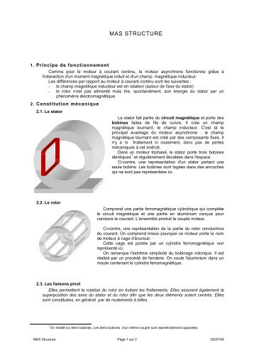 Moteur asynchrone - Gecif.net